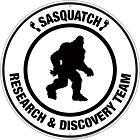 Sasquatch Research & Discovery Team Round Sign