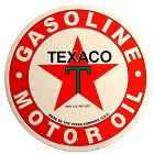 Texaco Logo 12 inch Round Sign