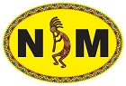 NM Oval - Yellow Lg Sticker