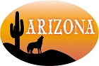AZ Coyote Sm Sticker