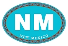 NM Oval - Turquoise Sm Sticker
