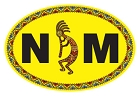 NM Oval - Yellow Sm Sticker