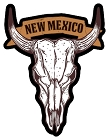 NM Cattle Skull Sm Sticker