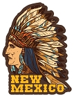 NM Native American Sm Sticker
