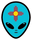NM Alien Head Sm Sticker