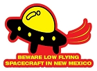 NM Beware Low Flying Sm Sticker