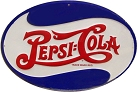 Pepsi Oval Die Cut Sign