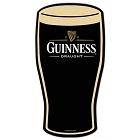 Guinness Pint Glass Die Cut Sign