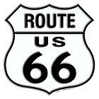 Route 66 Shield 24 inch Die Cut Sign
