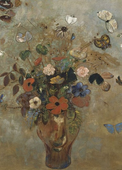 Redon - Still Life With Flowers Magnet