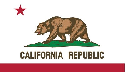 CA State Flag Sticker