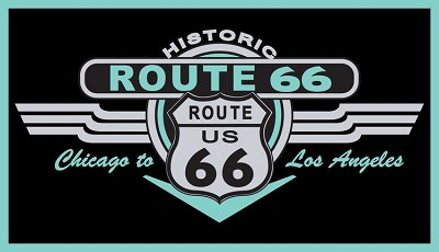 Route 66 Chicago to LA Turquoise Sticker