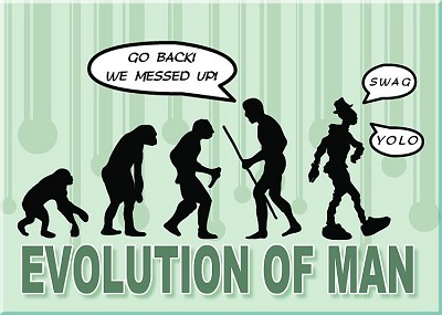 Evolution Mess Magnet