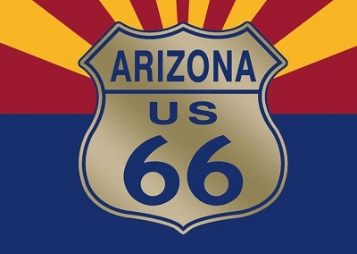 Route 66 Shield with Arizona Flag Magnet
