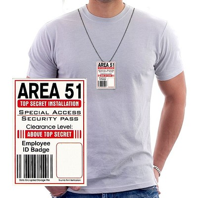Area 51 ID Necklace Unliminated