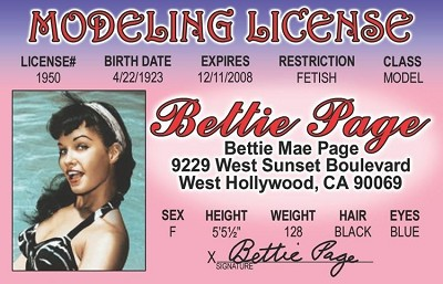 Betty Page ID