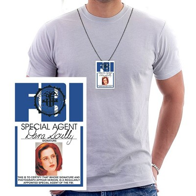 Scully FBI ID Necklace