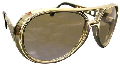 Large Gold Sunglasses w/o Sideburns