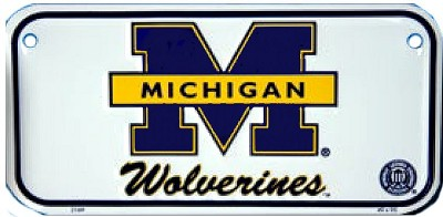 University of Michigan Wolverines Bike Tag