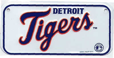 Detroit Tigers Bike Tag