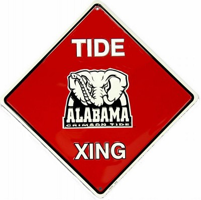 Alabama Roll Tide College Crossing Sign