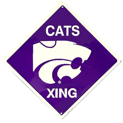 Kansas State - Wildcats College Crossing Sign