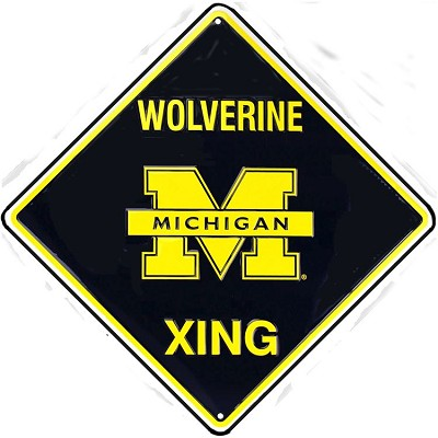 Michigan Wolverine College Crossing Sign