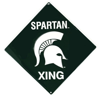 Michigan State Spartans College Crossing Sign