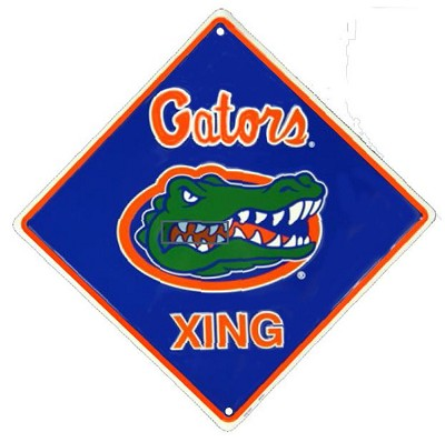 University of Florida - Gator College Crossing Sign
