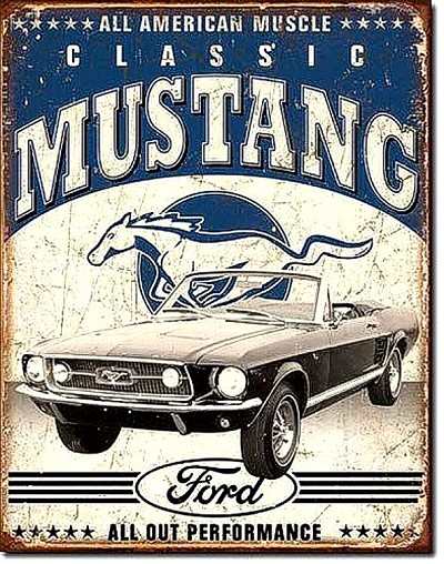 Ford Classic Mustang Metal Tin Sign