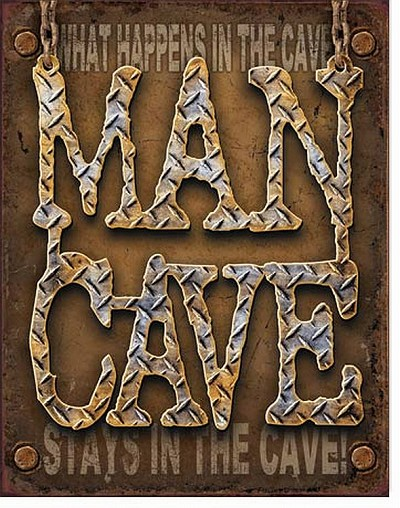Man Cave Metal Tin Sign