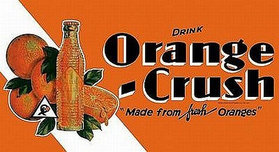 Orange Crush Drink Metal Sign