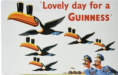 Guinness - Lovely Day Metal Sign