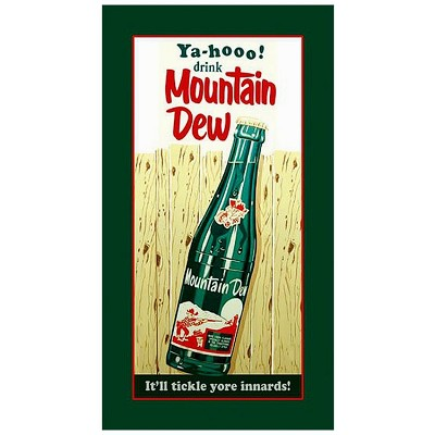 Mountain Dew Bottle Metal Sign