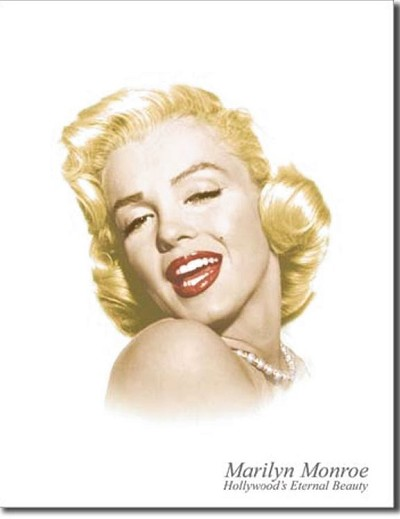 Marilyn Eternal Beauty Metal Tin Sign
