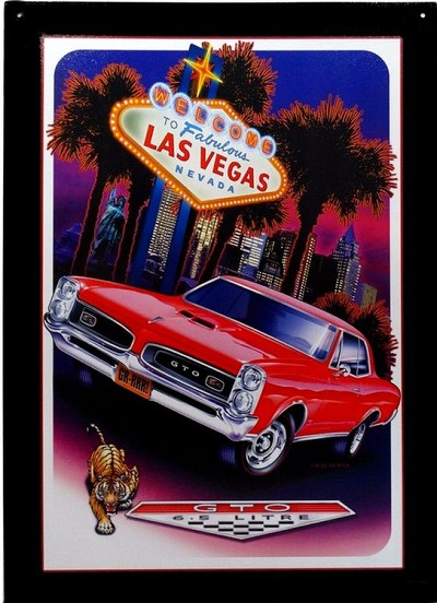 Pontiac GTO Las Vegas Metal Sign