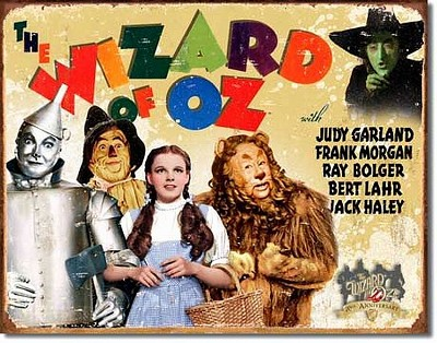Wiz of Oz 70th Anniversary Metal Tin Sign