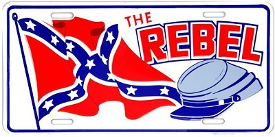 The Rebel License Plate