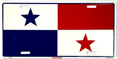 Panama Flag License Plate