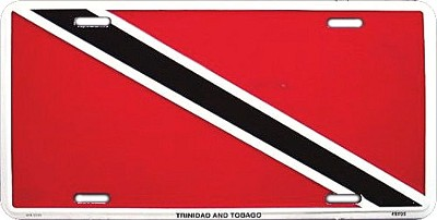 Trinidad & Tobago Flag License Plate