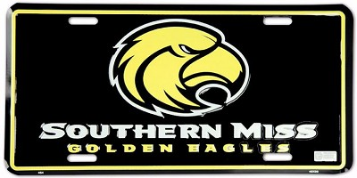 Southern Miss License Plate