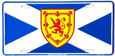 Scotland-St. Andrews Flag License Plate
