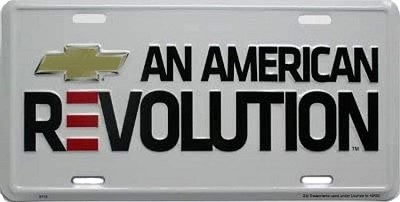 Chevy American Rev License Plate