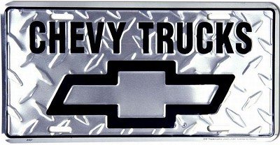 Chevy Truck Diamond License Plate