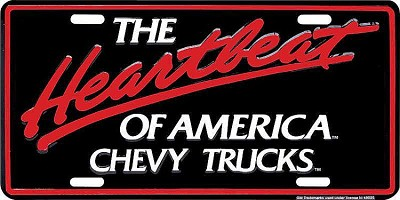 Chevy Truck Heartbeat License Plate