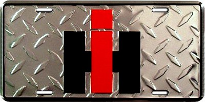 International Harvester License Plate