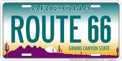 Arizona Style Route 66 License Plate