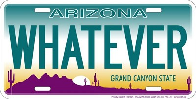 AZ - Whatever  License Plate