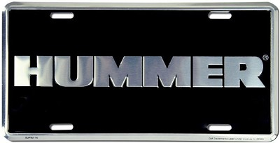 Hummer Black II License Plate