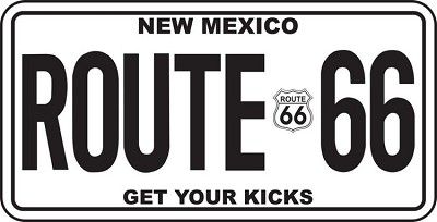Route 66 New Mexico License Plate